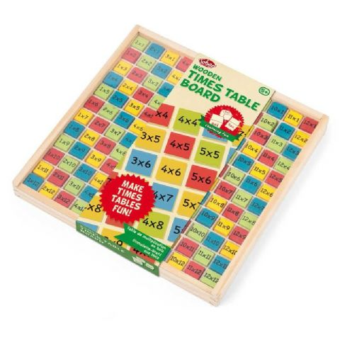 Wooden Times Table Board Educational Toy Age 5+ Tobar